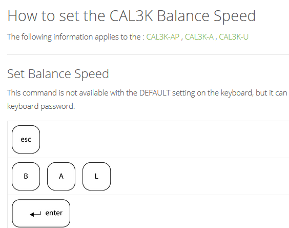 Balance Speed, How To Set